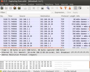 Ukázka analýzy paketů